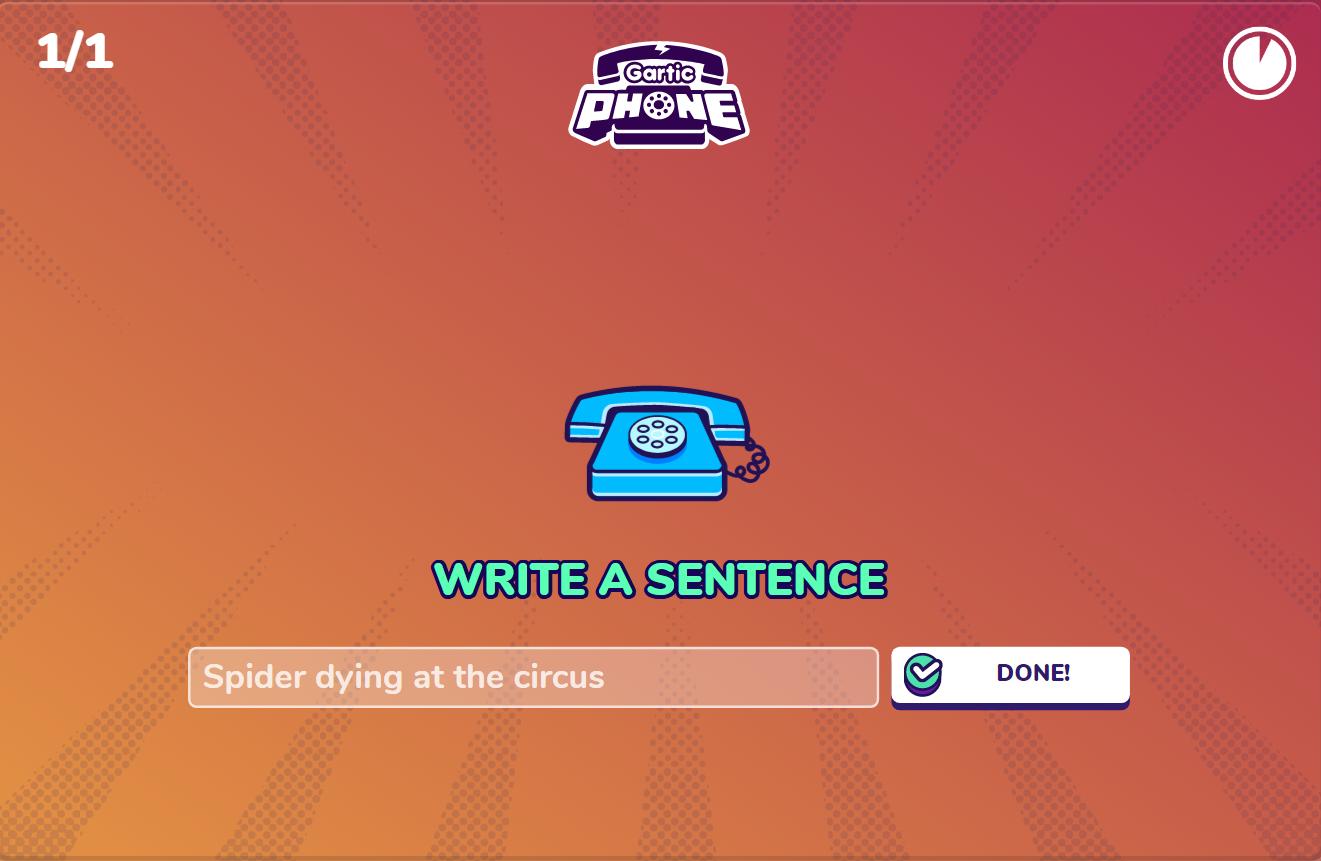 gartic phone in game 2